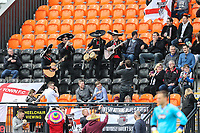 Mariachi band Beato Burrito hired by Grimsby Town fans after Barnet put a ban on inflatables in the ground play during the Sky Bet League 2 match between Barnet and Grimsby Town at The Hive, London, England on 29 April 2017. Photo by David Horn.