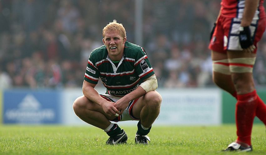 Photo: Paul Thomas..Leicester Tigers v Gloucester Rugby. Guinness Premiership. 16/09/2006...Lewis Moody of Leicester.