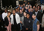 """Syndee Winters and Roddy Kennedy with student performers attend The Rockefeller Foundation and The Gilder Lehrman Institute of American History sponsored High School student #EduHam matinee performance of """"Hamilton"""" at the Richard Rodgers Theatre on 3/15/2017 in New York City."""