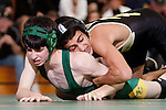 Manhattan Beach, CA 01/29/10 - In the 112 lbs. category Mira Costa's Zachary Shriener wrestled Farren Majoor of Peninsula.  Peninsula defeated Mira Costa 49-15.