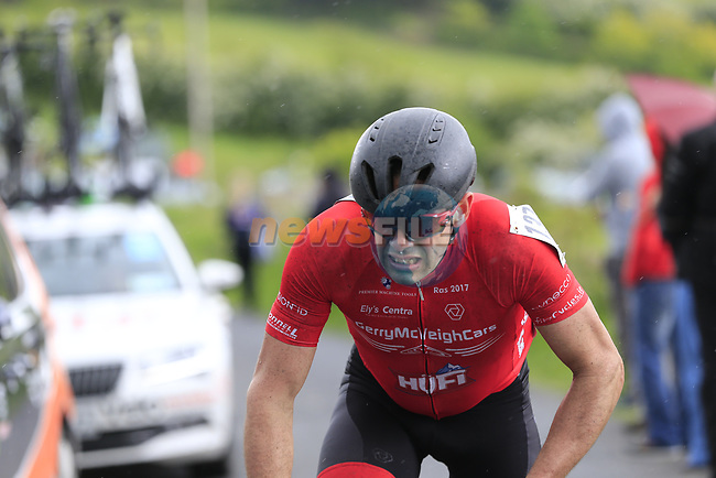 Ciaran Murphy (Galway Team Gerry McVeigh Cars) on the first Cat 3 climb Loughcrew during Stage 1 of the 2017 An Post Ras running 146.1km from Dublin Castle to Longford, Ireland. 21st May 2017.<br />