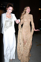 NEW YORK, NY - NOVEMBER 13: Bella Hadid and Gigi Hadid seen leaving for the 2017 Glamour Women Of The Year Awards in New York City on November 13, 2017. Credit: RW/MediaPunch /NortePhoto.com