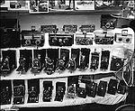 A collection of cameras in a photostore in Buenos Aires, Argentina.