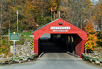 Taftsville Covered Bridge, Taftsville, Vermont, USA.