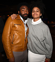 "LOS ANGELES - FEBRUARY 19: Donald Glover and Zazie Beetz at the party for FX's ""Atlanta Robbin' Season"" at the Clifton Cafeteria on February 19, 2018 in Los Angeles, California.(Photo by Frank Micelotta/FX/PictureGroup)"
