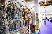 SAO PAULO, SP, 16 DE JUNHO DE 2013.  SALAO MODA BRASIL. O Salão Internacional de Moda Intima, Praia, Fitness, textil e aviamento, o Salão Moda Brasil acontece em São Paulo no Expo Center Norte. Durante a feira são apresentadas as novidades do setor. FOTO ADRIANA SPACA/BRAZIL PHOTO PRESS