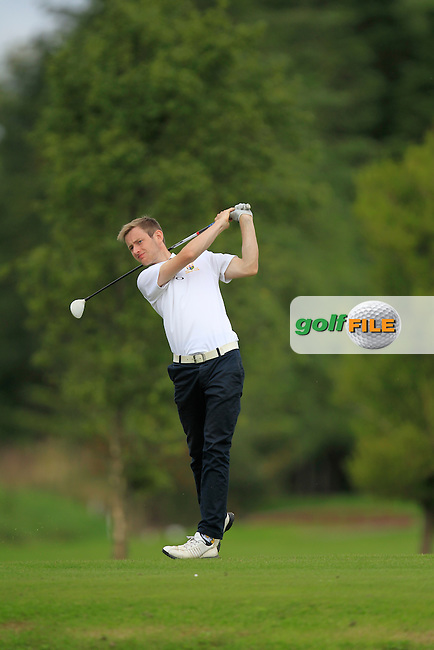 James Lindsay (North West/Ulster) on the 4th tee during Day 2 of the Irish Youths Amateur Close Championship at Claremorris Golf Club on Thursday 29th August 2013 <br /> Picture:  Thos Caffrey/ www.golffile.ie