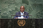 LOS general debate – 27 September<br /> <br /> PM<br /> <br /> Guinea-Bissau<br /> H.E. Mr. José Mário Vaz<br /> President