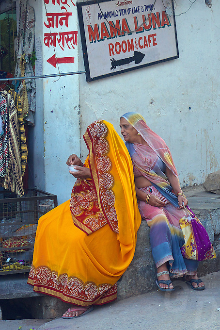 Street life in Pushkar one of India's most holiest cities Rajasthan, India