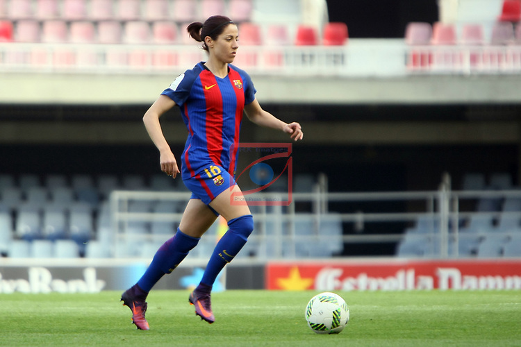 Spanish Women's Football League Iberdrola 2016/17 - Game: 21.<br /> FC Barcelona vs RCD Espanyol: 5-0.<br /> Vicky Losada.