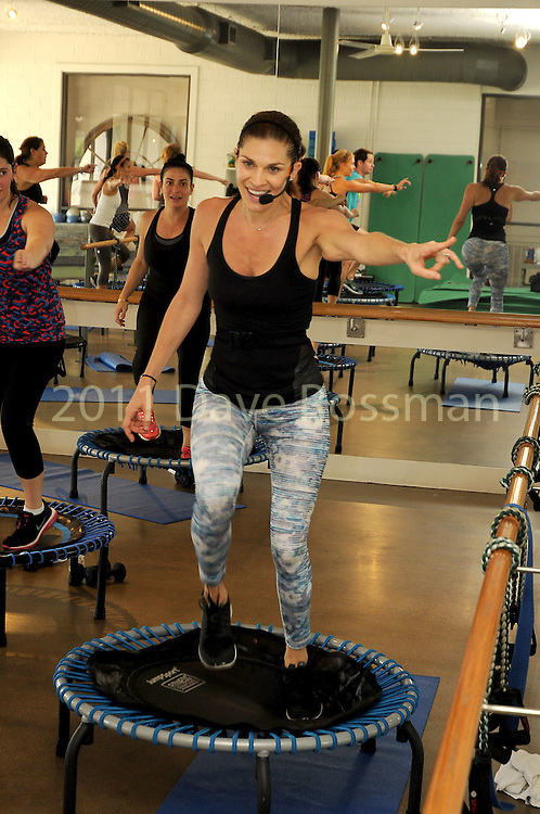 Alison Brookby leads a Bounce class at Define on Bissonet Wednesday June 29,2016.(Dave Rossman Photo)