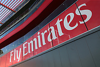 General view of the Fly Emirates signage during Lancashire CCC vs Essex CCC, Specsavers County Championship Division 1 Cricket at Emirates Old Trafford on 6th September 2017