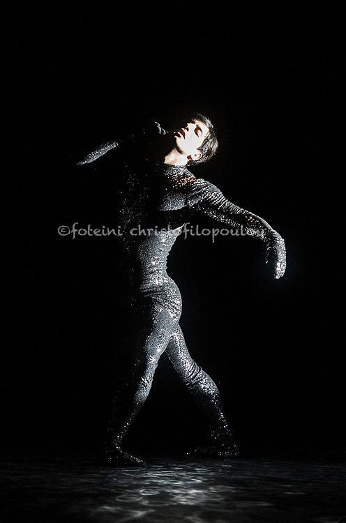 "London, UK. 22.11.2017. 'Men in Motion' Ivan Putrov's celebration of the male dancer returns to the London Coliseum, 22-23 Nov 2017. Photo shows: Daniel Proietto, in ""Sinnerman"".  Photo - © Foteini Christofilopoulou."