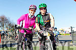 Enjoying the The Fenit Coastal Cycle in aid of St. Brendan's National School on Saturday were Fiona O'Connor and Emma Cunnane