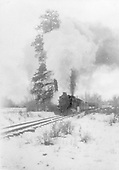 Westbound D&amp;RGW San Juan nearing Chama at &quot;Juke's Tree&quot;, east of Chama.<br /> D&amp;RGW  Chama, NM