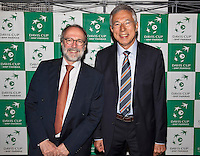 Moscow, Russia, 13 th July, 2016, Tennis,  Davis Cup Russia-Netherlands, Official Diner at Royal Bar , Ambassador with Rolf Thung<br /> Photo: Henk Koster/tennisimages.com