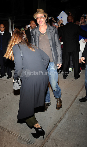 New York,NY October 14: Brad Pitt attends the 'Fury' New York Premiere at DGA Theater on October 14, 2014 in New York City Credit: John Palmer/MediaPunch