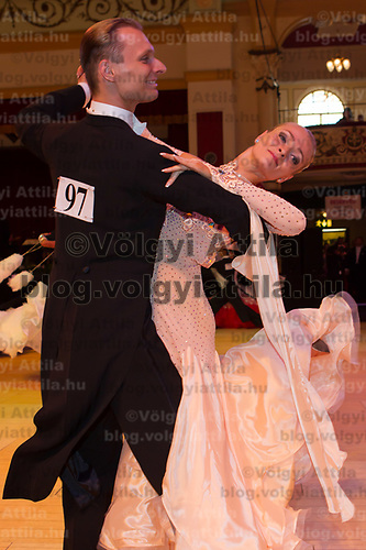 Marek Gabor & Denisa Jancusova of United States of America perform their dance during the Blackpool Dance Festival that is the most famous event among dance competitions held in Empress Ballroom Wintergardens, Blackpool, United Kingdom. Monday, 31. May 2010. ATTILA VOLGYI