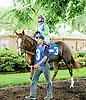 Martita Sangrita before The John W. Rooney Memorial Stakes at Delaware Park on 6/2/12