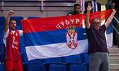 7th September 2017, Fenerbahce Arena, Istanbul, Turkey; FIBA Eurobasket Group D; Belgium versus Serbia; Serbian fans celebrate the victory