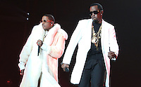 NEWARK, NJ - SEPTEMBER 25: Mase and Diddy perform at the Bad Boy Family Reunion concert at The Prudential Center in Newark, New Jersey on September 25, 2016. Credit: Walik Goshorn/MediaPunch