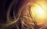 Swirling blurred motion golden abstract pattern