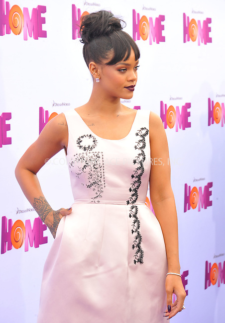 WWW.ACEPIXS.COM<br /> <br /> March 22 2015, LA<br /> <br /> Rihanna arriving at the 'HOME' Los Angeles Premiere at the Regency Village Theatre on March 22, 2015 in Westwood, California. <br /> <br /> By Line: Peter West/ACE Pictures<br /> <br /> <br /> ACE Pictures, Inc.<br /> tel: 646 769 0430<br /> Email: info@acepixs.com<br /> www.acepixs.com