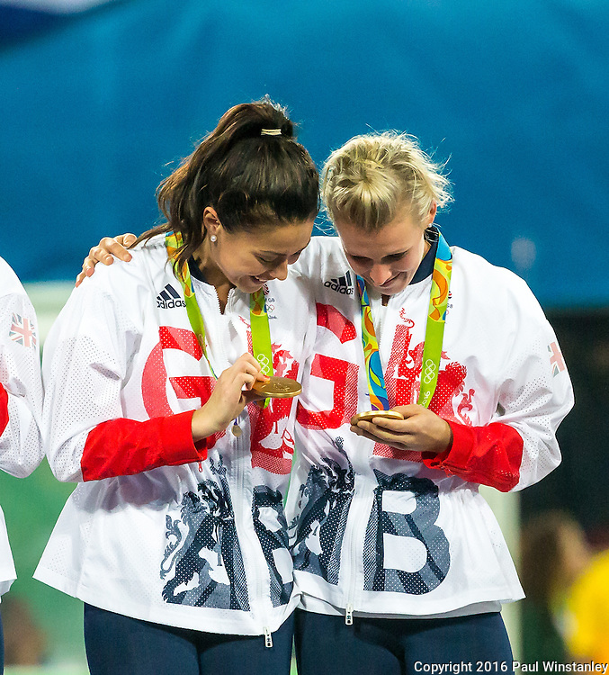 Women's hockey medal ceremony at the Rio 2016 Olympics at the Olympic Hockey Centre in Rio de Janeiro, Brazil.