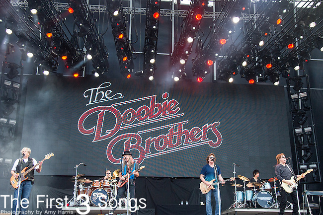The Doobie Brothers performs onstage during The Tortuga Music Festival in Fort Lauderdale, Florida.
