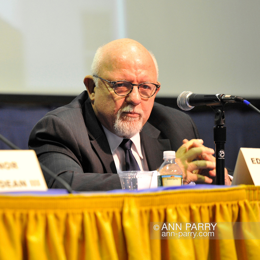 Edward J. Rollins (shown) is a panelist at Change in the White House? Comparing the George W. Bush and Barack Obama Presidencies on Thursday, April 19, 2012, at Hofstra University, Hempstead, New York, USA. Hofstra's event was part of Debate 2012  Pride, Politics and Policy which leads up to the Presidential Debate Hofstra is hosting on October 15, 2012.  Edward J. Rollins managed President Ronald Reagan's 49 state landslide reelection campaign in 1984, and had major managerial roles in nine other Presidential campaigns.