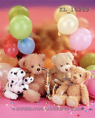 Interlitho, Alberto, CUTE ANIMALS, teddies, still lifes, photos, 3 bears, dog, balloons(KL16259,#AC#)
