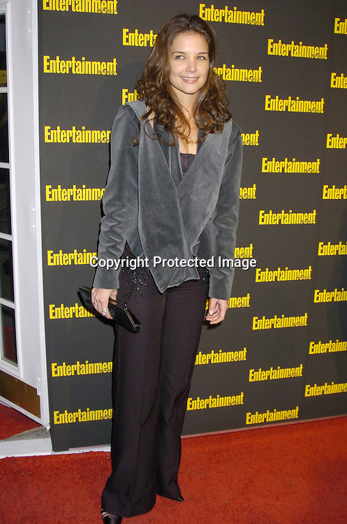 Katie Holmes ..at the 11th Annual Entertainment Weekly Oscar Party on ..Februaty 27, 2005 at Elaine's in New York City. ..Photo by Robin Platzer, Twin Images