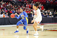 College Park, MD - March 25, 2019: UCLA Bruins guard Japreece Dean (24) drives to the basket during game between UCLA and Maryland at  Xfinity Center in College Park, MD.  (Photo by Elliott Brown/Media Images International)