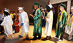 WATERBURY CT. 21 June 2017-062117SV11-Graduates enter their ceremony during the Wilby High Graduation in Waterbury Wednesday.<br /> Steven Valenti Republican-American