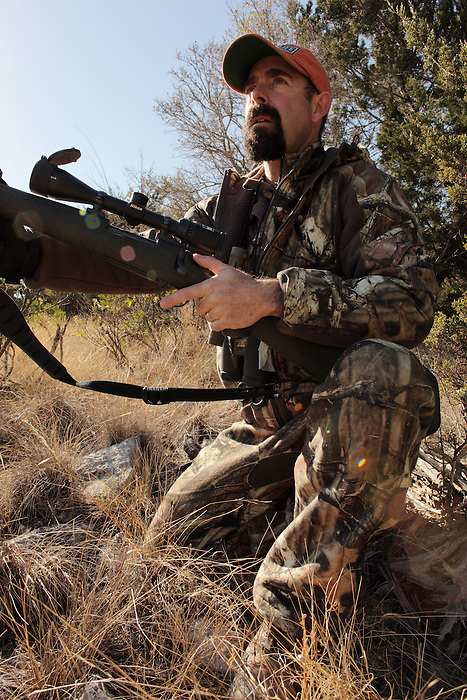 "Image made for Outdoor Life Magazine's ""Record Quest"" featuring hunting editor Andrew McKean, hunting whitetail deer on the Vatoville Ranch near Sonora, Texas, Dec. 7-9. 2010. (Darren Abate/pressphotointl.com)"