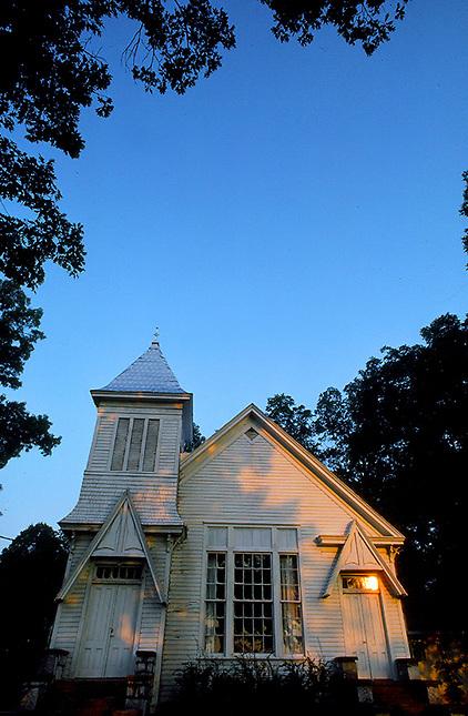 Old Church at sunrise