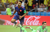 KAZAN - RUSIA, 24-06-2018: Radamel FALCAO jugador de Colombia celebra después de anotar un gol a Polonia durante partido de la primera fase, Grupo H, por la Copa Mundial de la FIFA Rusia 2018 jugado en el estadio Kazan Arena en Kazán, Rusia. /  Radamel FALCAO  player of Colombia celebrates after scoring a goal to Polonia during match of the first phase, Group H, for the FIFA World Cup Russia 2018 played at Kazan Arena stadium in Kazan, Russia. Photo: VizzorImage / Julian Medina / Cont