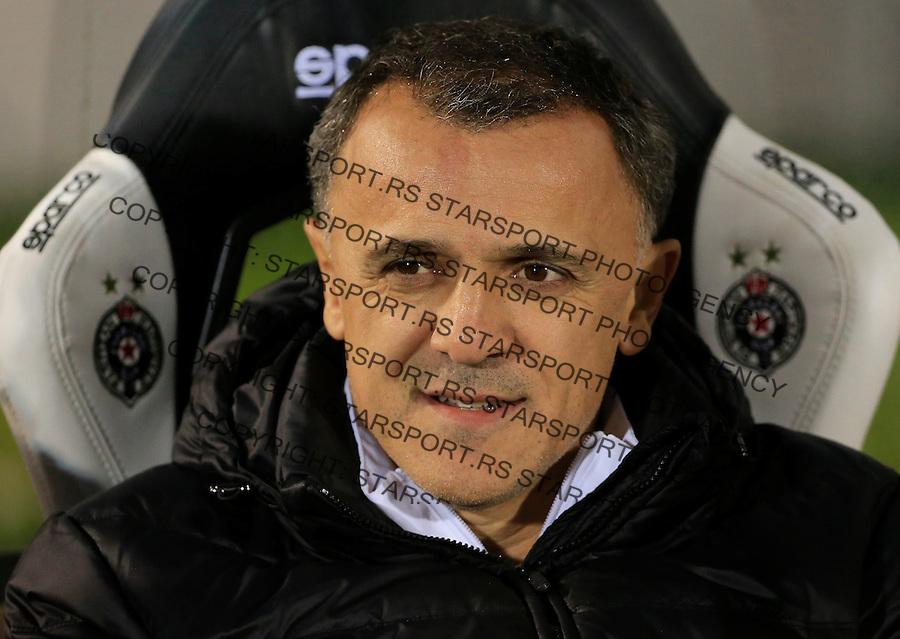 Fudbal Jelen Super League season 2015-2016<br /> Partizan v Borac (Cacak)<br /> head coach Ljubinko Drulovic<br /> Beograd, 16.12.2015.<br /> foto: Srdjan Stevanovic/Starsportphoto&copy;