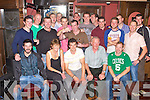 SURPRISE BIRTHDAY: Michael Collins, Ballymac (seated centre) got a big surprise when family and friends gathered to clebrate his 30th birthday at the Blasket bar, Tralee on Friday.