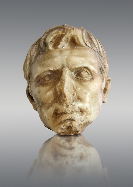 Roman sculpture of the Emperor Augustus, excavated from El-Jem, sculpted circa 27BC-14AD The Bardo National Museum, Tunis, Inv No: C. 72