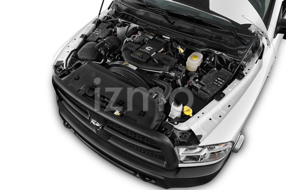 Car Stock 2018 Ram Ram-3500-Pickup Tradesman-Regular-cab 4 Door Pick-up Engine  high angle detail view
