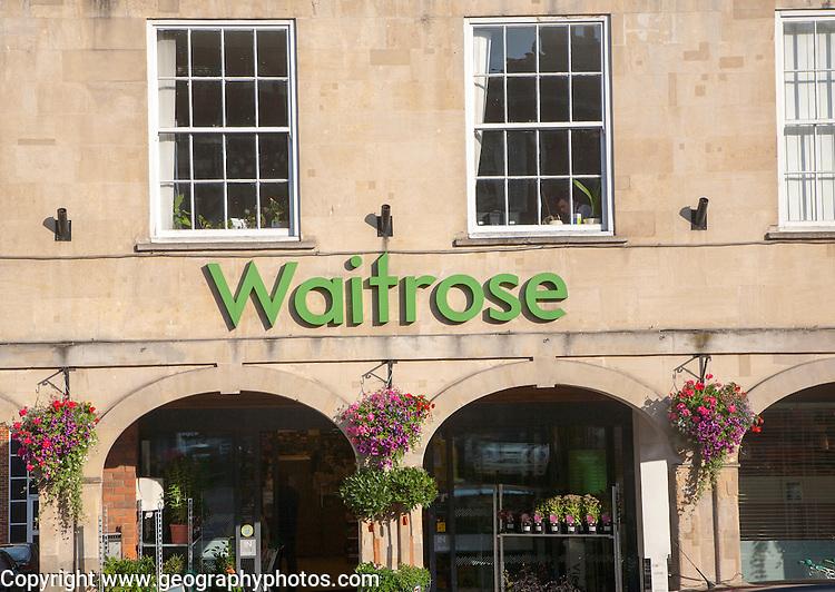 Waitrose supermarket store, Marlborough, Wiltshire, England, UK