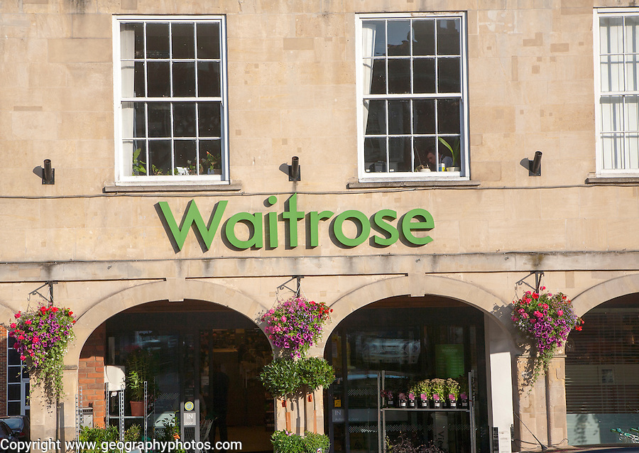 Waitrose supermarket store, Marlborough, Wiltshire, England, UK