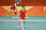 Ayaka Takahashi &amp; Misaki Matsutomo (JPN), <br /> AUGUST 15, 2016 - Badminton : <br /> Women's Doubles Quarter finals<br /> at Riocentro - Pavilion 4 during the Rio 2016 Olympic Games in Rio de Janeiro, Brazil. <br /> (Photo by Yusuke Nakanishi/AFLO SPORT)