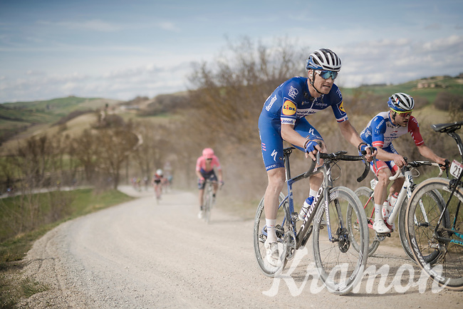 Zdeněk ŠTYBAR (CZE/Deceuninck-Quick Step) on the white dust roads of Tuscany<br /> <br /> 13th Strade Bianche 2019 (1.UWT)<br /> One day race from Siena to Siena (184km)<br /> <br /> ©kramon
