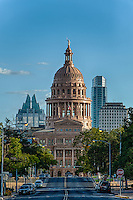 This view was capture from the north side of the Texas Capital with the Frost and Austonian buildings in background