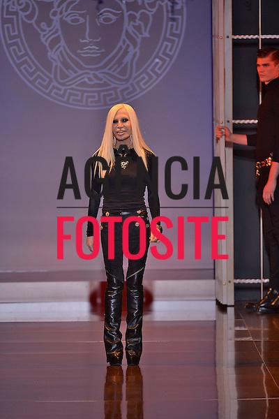 Milao, Italia &ndash; 02/2014 - Desfile de Versace durante a Semana de moda de Milao - Inverno 2014. <br /> Foto: FOTOSITE
