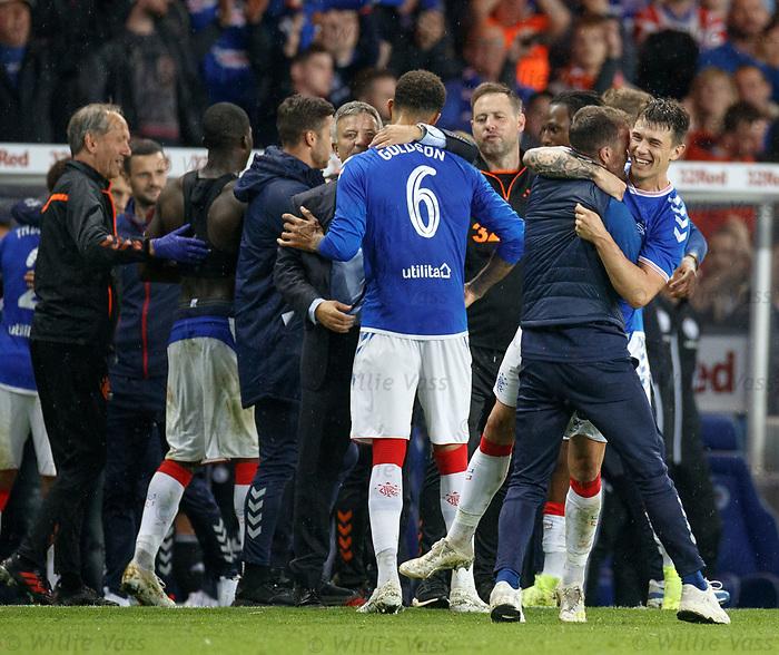 29.08.2019 Rangers v Legia Warsaw: Andy Halliday and Ryan Jack