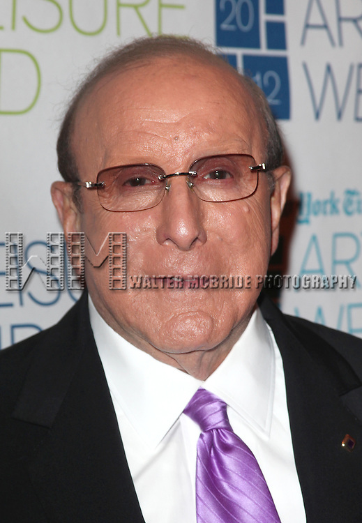 Clive Davis, interviewed by Stephen Holden, attending the New York Times 11th Annual Arts & Leisure Weekend at Times Center in New York City. 1/8/2012