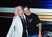 03 August 2019 - Hamilton, Ontario, Canada.  American country music legend Tanya Tucker with Noel Haggard (son of the late Merle Haggard) backstage at the Festival of Friends 2019 held at Gage Park.  <br /> CAP/ADM/BNC<br /> ©BNC/ADM/Capital Pictures
